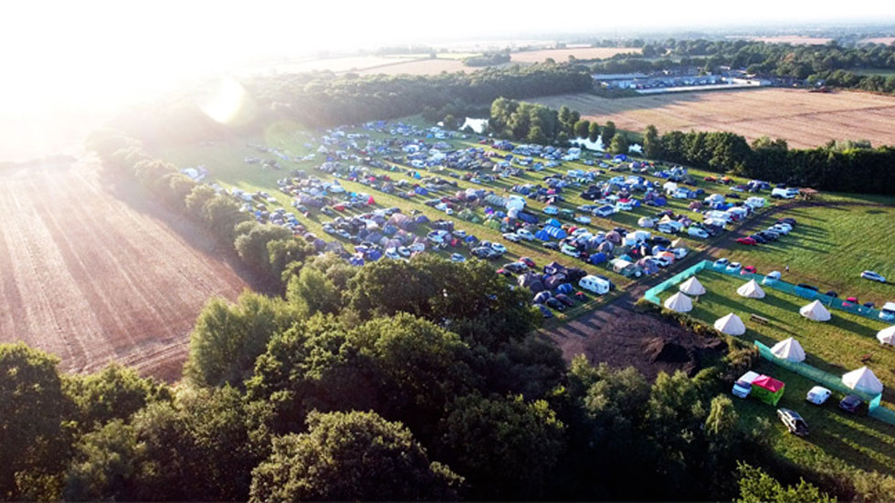 showground area drone shot