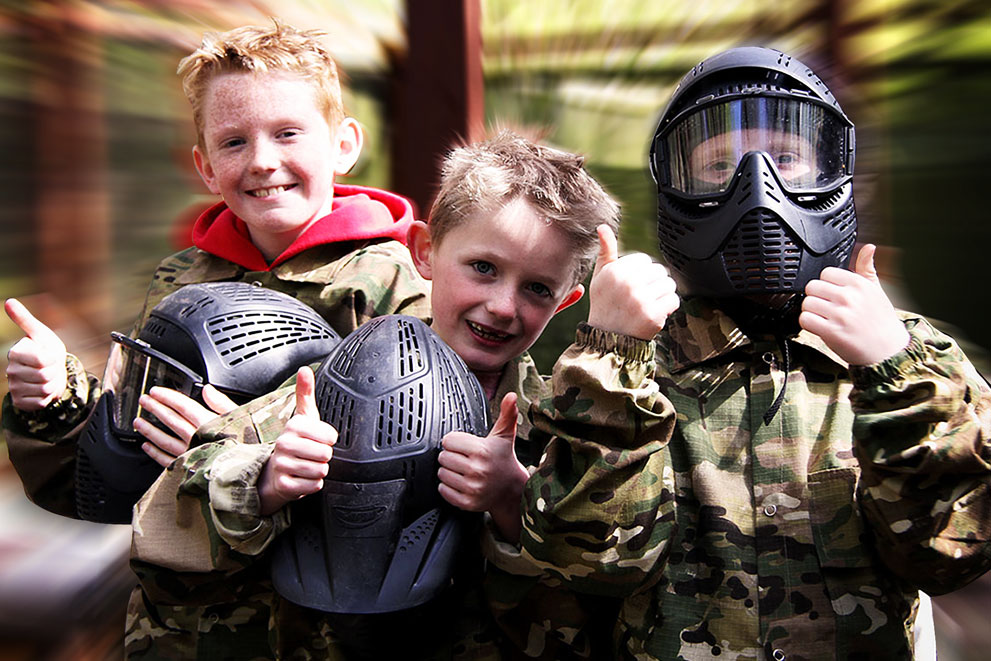young guns junior paintballing